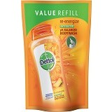 DETTOL Body Wash Liquid Pouch Re-Energize 450ml - Sabun Mandi