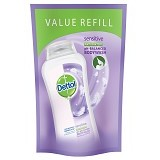 DETTOL Body Wash Liquid Pouch Sensitive 450ml - Sabun Mandi