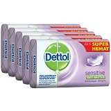 DETTOL Sabun Batang Sensitive 65gr Super Hemat