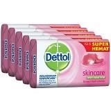 DETTOL Sabun Batang Skincare 65gr Super Hemat - Sabun Mandi