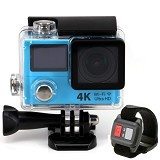 DIKLIKAJA Action Camera 4K Dual Screen + Remote [DKA-ACAM-1LCD-BLE] - Blue (Merchant) - Camcorder / Handycam Flash Memory