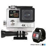 DIKLIKAJA Action Camera 4K Dual Screen + Remote [DKA-ACAM-1LCD-WHT] - White (Merchant) - Camcorder / Handycam Flash Memory