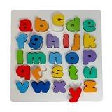 DND Mainan Edukasi Puzzle Kayu Chunky Alphabet Huruf Kecil - Wooden Toy