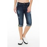 DOCDENIM Ladies Illinoi RU Crop Slim Fit Size XXL - Blue (Merchant) - Celana Jeans Wanita