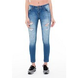 DOCDENIM Ladies Isyanna Ripped Skinny Fit Size L - Blue (Merchant) - Celana Jeans Wanita