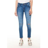 DOCDENIM Ladies Jeans Agnea Cut Ripped Size L - Blue (Merchant)