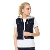 DOCDENIM Ladies Vest Aryssa Dark Hoodie Size XL - Dark Blue (Merchant) - Vest Wanita