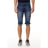 DOCDENIM Men Dayton Ripped Short Slim Fit Size 29 - Blue (Merchant) - Celana Pendek Pria
