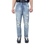 DOCDENIM Men Jeans Enzzo Ripped Slim Fit Size 28 - Blue (Merchant) - Celana Jeans Pria
