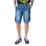 DOCDENIM Men Jeans Vector RU Short Slim Comfort Fit Size 28 - Blue (Merchant) - Celana Pendek Pria