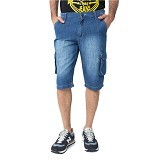 DOCDENIM Men Jeans Vector Short Slim Comfort Fit Size 34 - Blue (Merchant) - Celana Pendek Pria