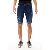 DOCDENIM Men Short Denim Kenzzei RU Ripped Slim Fit Size 28 - Blue (Merchant) - Celana Jeans Pria