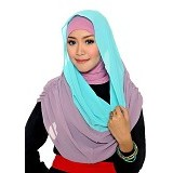 DSTYLEHIJAB 2 Tone Shoodie - Green Mint Purple - Hijab