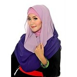DSTYLEHIJAB 2 Tone Shoodie - Light Purple Dark Purple - Hijab