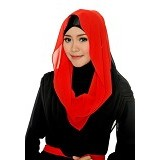 DSTYLEHIJAB 2 Tone Shoodie - Red Black
