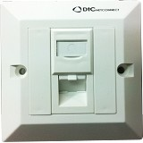 DtC NETCONNECT Faceplate Angled 1 Port With Shutter [2102501] - Faceplate