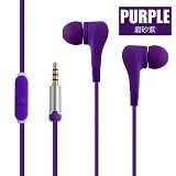 EARFUN Earphone Fashionable Colorful [EF-E8] - Purple - Earphone Ear Monitor / Iem