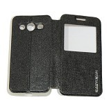 EASYBEAR Flipcover Case View for Samsung Galaxy Core 2 G355 - Black (Merchant) - Casing Handphone / Case