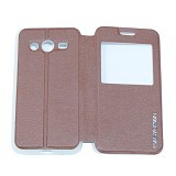 EASYBEAR Flipcover Case View for Samsung Galaxy Core 2 G355 - Brown (Merchant) - Casing Handphone / Case