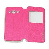 EASYBEAR Flipcover Case View for Samsung Galaxy Core 2 G355 - Pink (Merchant) - Casing Handphone / Case