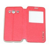 EASYBEAR Flipcover Case View for Samsung Galaxy Core 2 G355 - Red (Merchant) - Casing Handphone / Case
