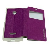 EASYBEAR Flipcover/Flipshell/Casing for Microsoft Lumia N435 View - Purple (Merchant) - Casing Handphone / Case