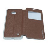 EASYBEAR Flipcover/Flipshell/Casing for Microsoft Lumia N640 View - Brown (Merchant) - Casing Handphone / Case