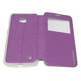 EASYBEAR Flipcover/Flipshell/Casing for Microsoft Lumia N640 View - Purple (Merchant) - Casing Handphone / Case