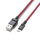 ELECOM Kabel Microusb 1.2M [MPA-AMBS2U12RD]  - Red (Merchant) - Cable / Connector Usb