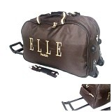 ELLE Trolley Travel Bag - Brown (Merchant) - Travel Bag