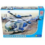 EMCO Brix Police Chopper [8664] (Merchant) - Building Set Transportation