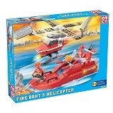 EMCO Lego Brix Fire Boat & Helicopter (Merchant) - Building Set Transportation