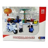 EMCO Lego Brix Spesial Edition Indonesia Pangkalan Ojek [8652] (Merchant) - Building Set Occupation