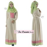 EMMAQUEEN Dress Ice Cream Size M - Moccachino - Gamis Wanita