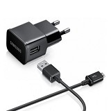EMPIRE Charger for Samsung Galaxy S4 + Micro USB Cable - Black (Merchant) - Charger Handphone