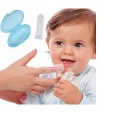 EMPIRE Finger Toothbrush for Baby Super Soft Silicone Transparent with Blue Box (Merchant) - Sikat Gigi Bayi dan Anak