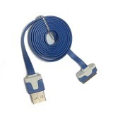 EMPIRE Flat Colour Cable Data For Apple IPhone 4G Or 4S - Blue (Merchant)