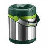 EMSA Mobility Vacuum Food Flask 1.2L [512966] - Green/Light Green - Lunch Box / Kotak Makan / Rantang