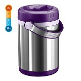 EMSA Mobility Vacuum Food Flask 1.7L [509234] - Blackberry/Light Violet - Lunch Box / Kotak Makan / Rantang