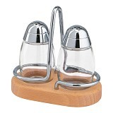 EMSA Scandic Salt and Pepper Set [244021600] - Beech/Chrome - Tempat Bumbu