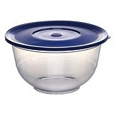 EMSA Superline Salad Bowl with Lid [503714] - Transparent/Blue - Mangkuk / Mangkok / Bowl