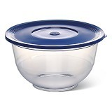 EMSA Superline Salad Bowl with Lid [503715] - Transparent/Blue - Mangkuk / Mangkok / Bowl