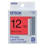 EPSON Label Tape Catridge Black on Red [LC-4RBP] (Merchant) - Kertas Label / Letra Tag