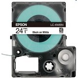 EPSON Label Tape Catridge White on Black [LC-6BWV] (Merchant) - Kertas Label / Letra Tag