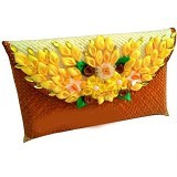ETNIKMODE Clutch Anyaman Pandan Flower - Brown (Merchant) - Clutches & Wristlets Wanita