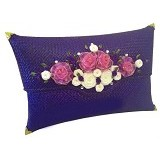 ETNIKMODE Clutch Anyaman Pandan Flower - Purple (Merchant) - Clutches & Wristlets Wanita