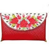 ETNIKMODE Clutch Anyaman Pandan Flower - Red (Merchant) - Clutches & Wristlets Wanita