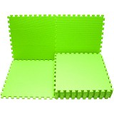 EVAMATS Karpet Puzzle - Bright green - Gym and Playmate for Baby / Kids