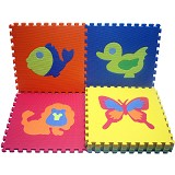 EVAMATS Karpet Puzzle Hewan - Gym and Playmate for Baby / Kids