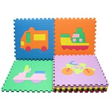 EVAMATS Karpet Puzzle Transportasi - Gym and Playmate for Baby / Kids
